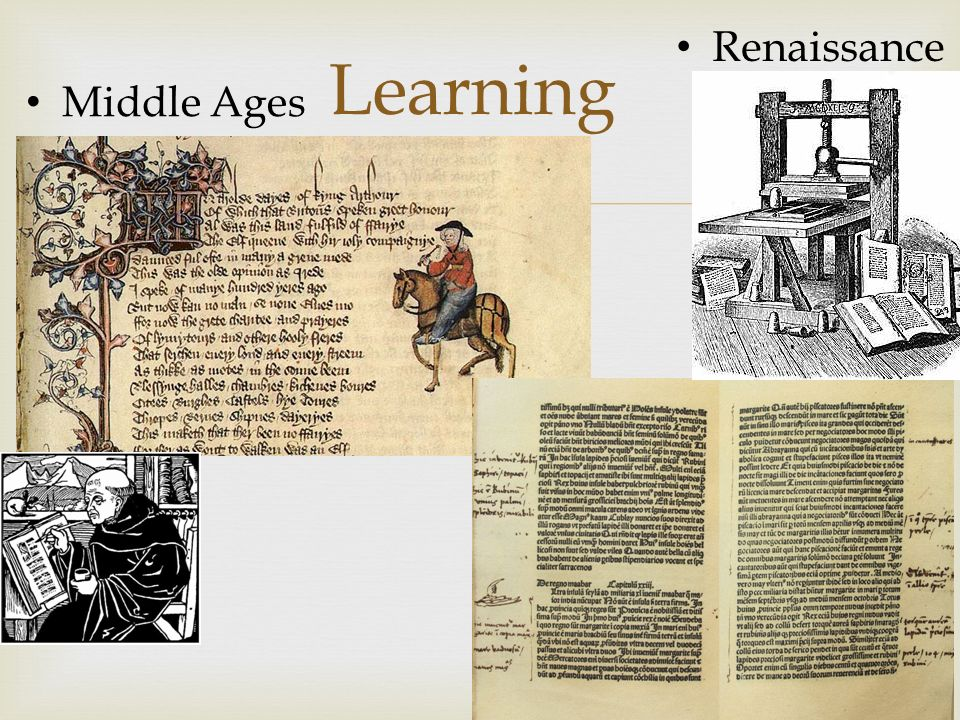 Learning Middle Ages Renaissance