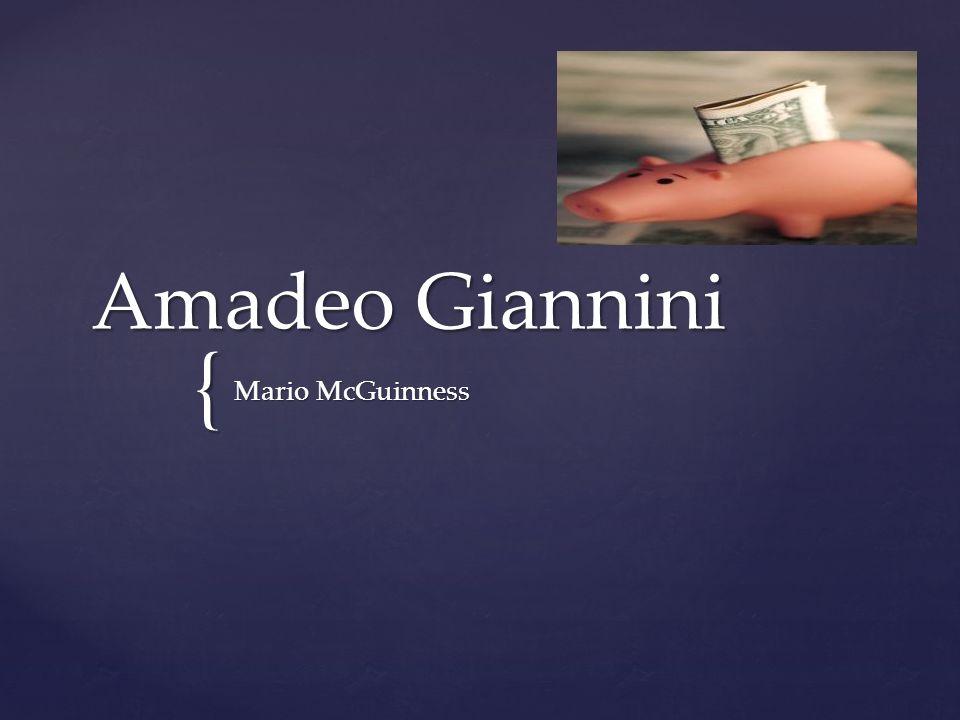 { Amadeo Giannini Mario McGuinness