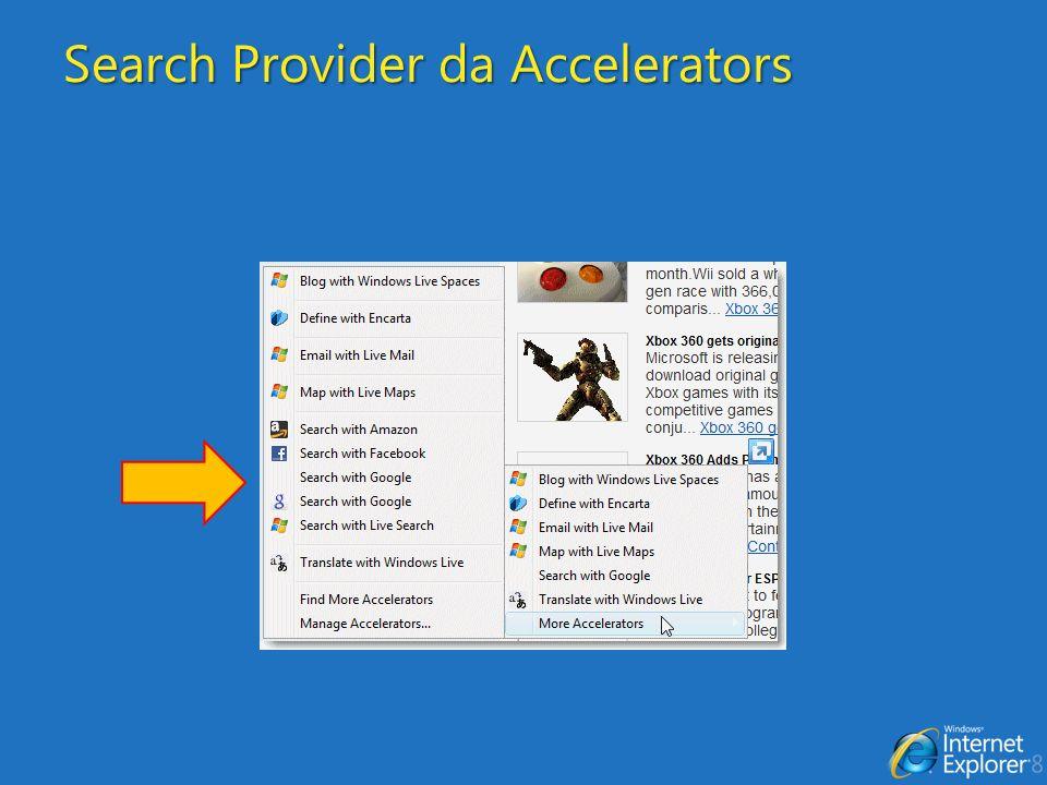Search Provider da Accelerators