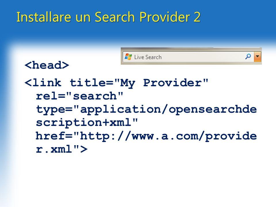 Installare un Search Provider 2