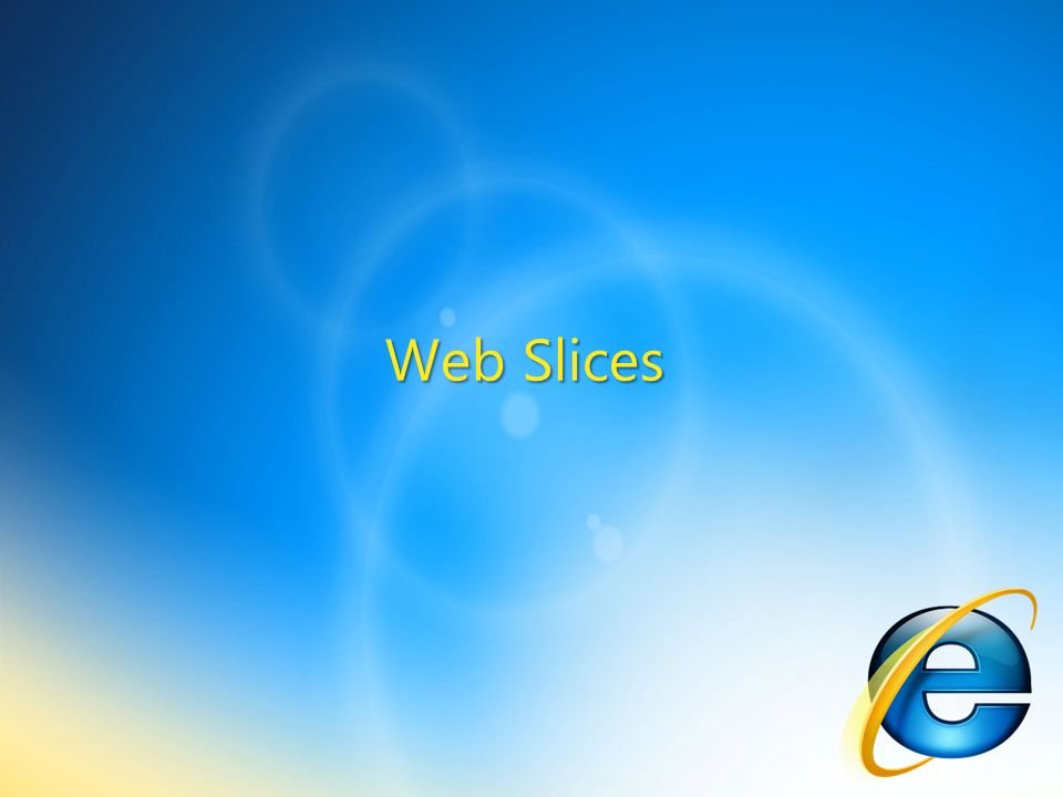 Web Slices