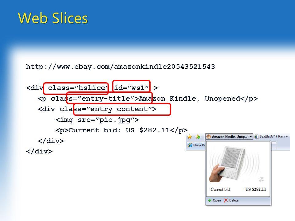 http://www.ebay.com/amazonkindle20543521543 Amazon Kindle, Unopened Current bid: US $282.11 Web Slices