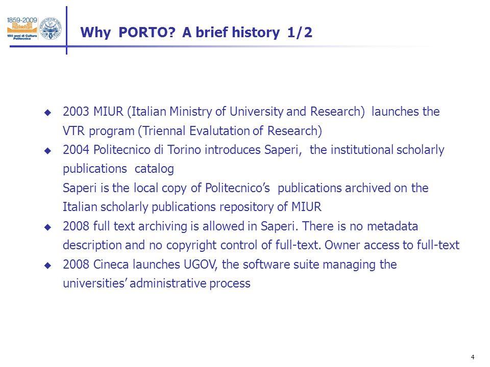 4 Why PORTO.