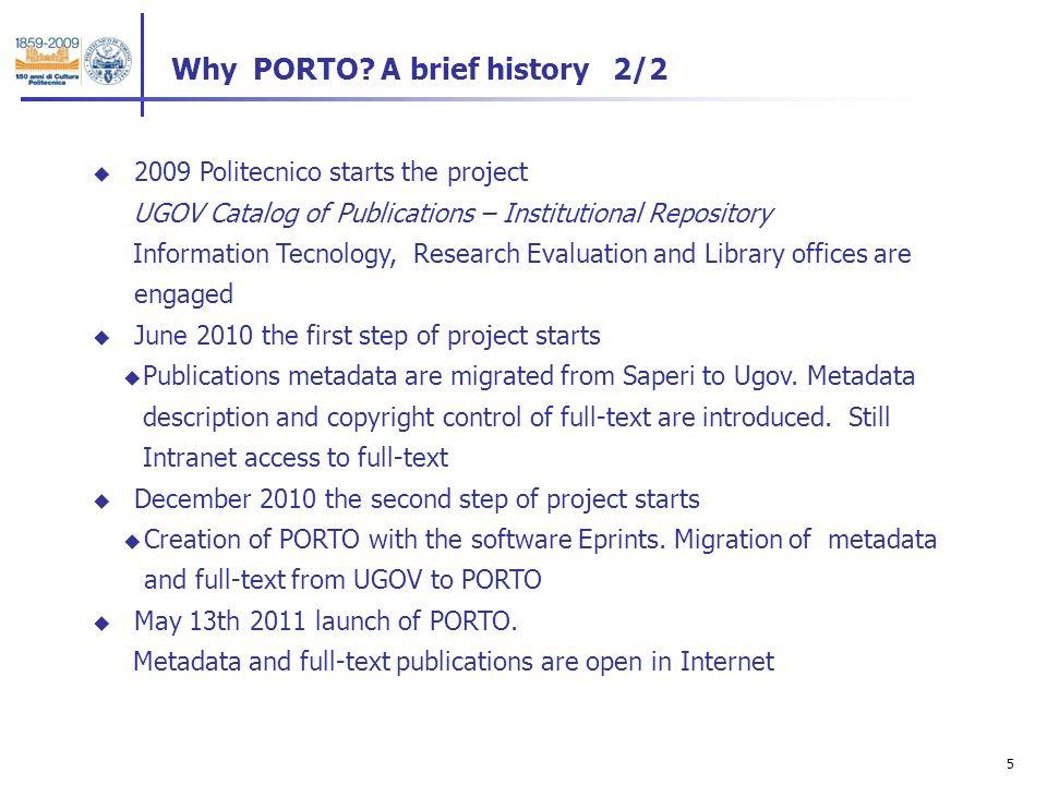 5 Why PORTO.