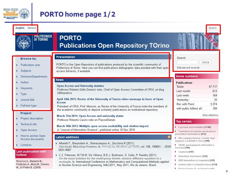 9 PORTO home page 1/2