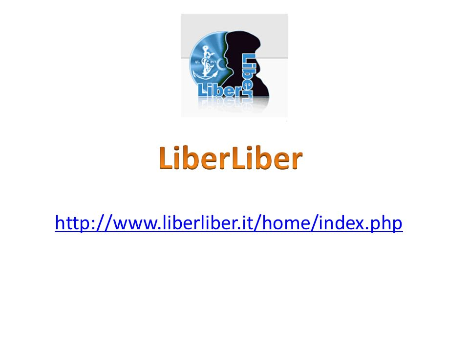 http://www.liberliber.it/home/index.php