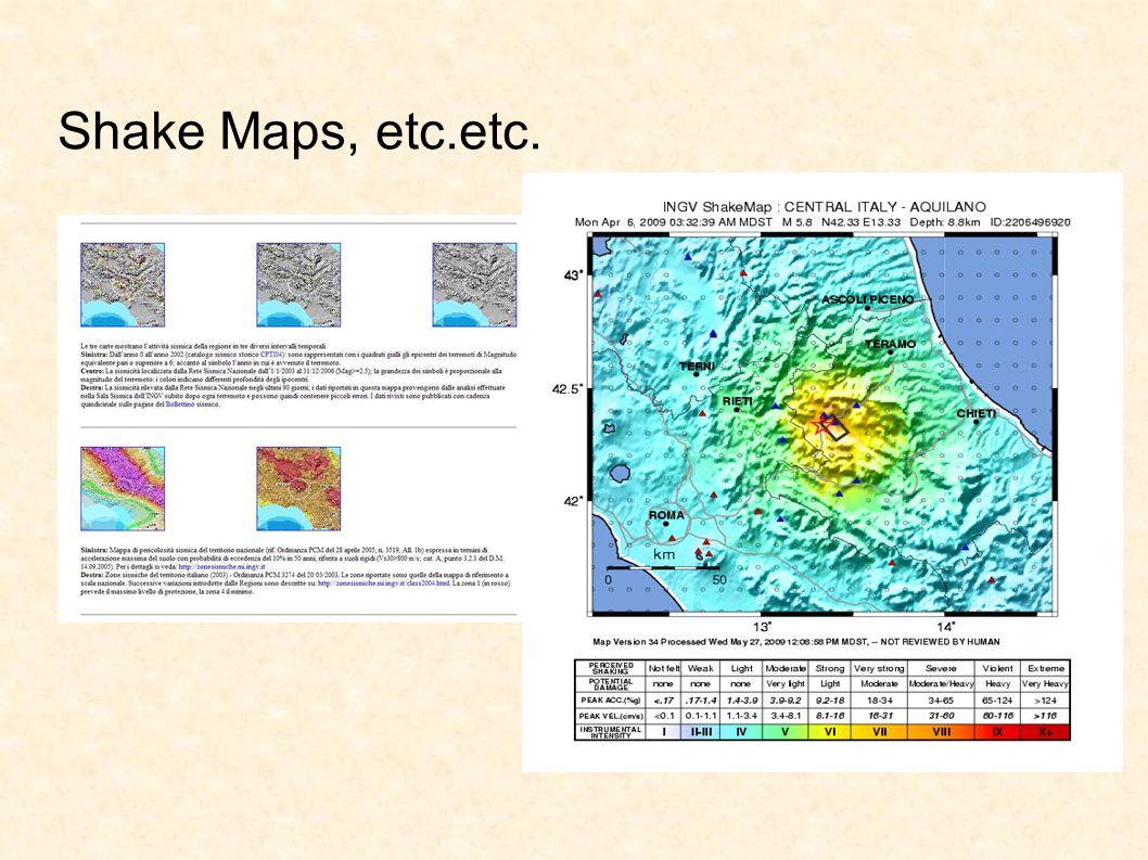 Shake Maps, etc.etc.
