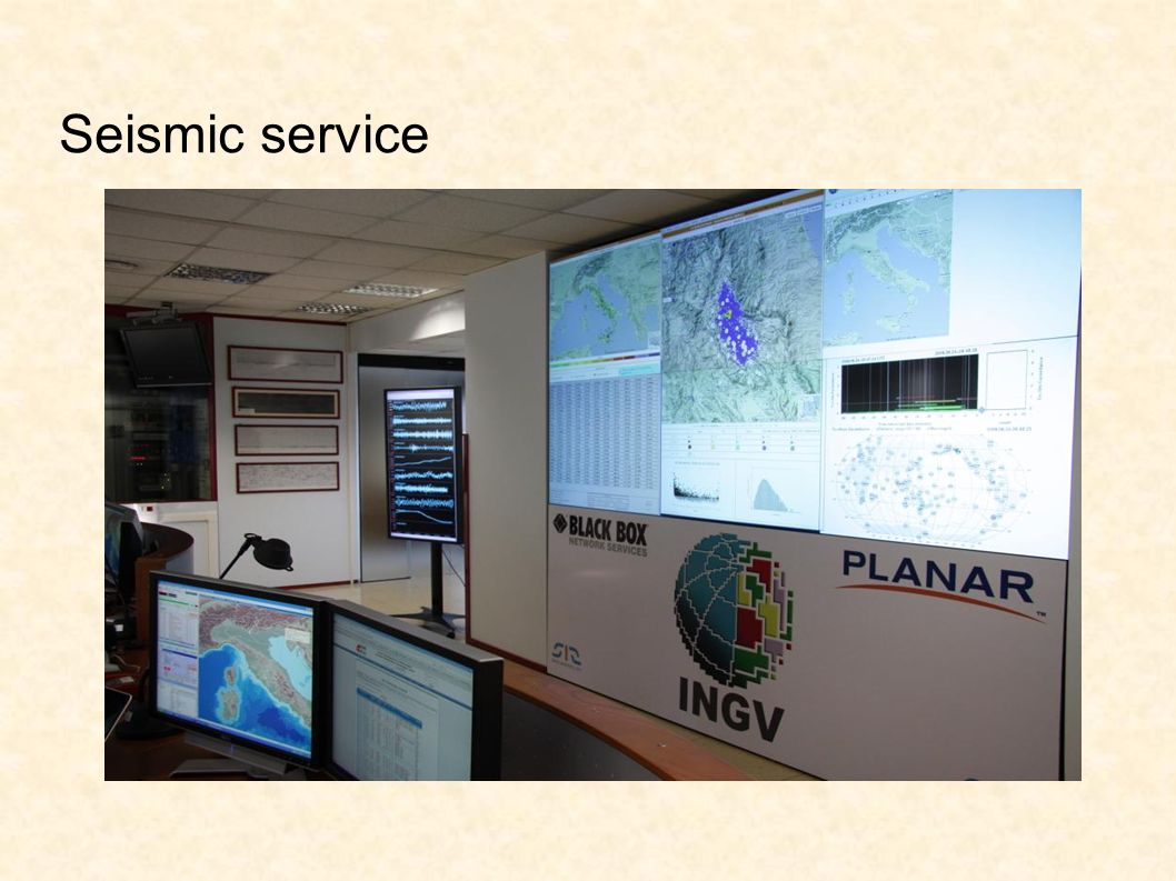 Seismic service
