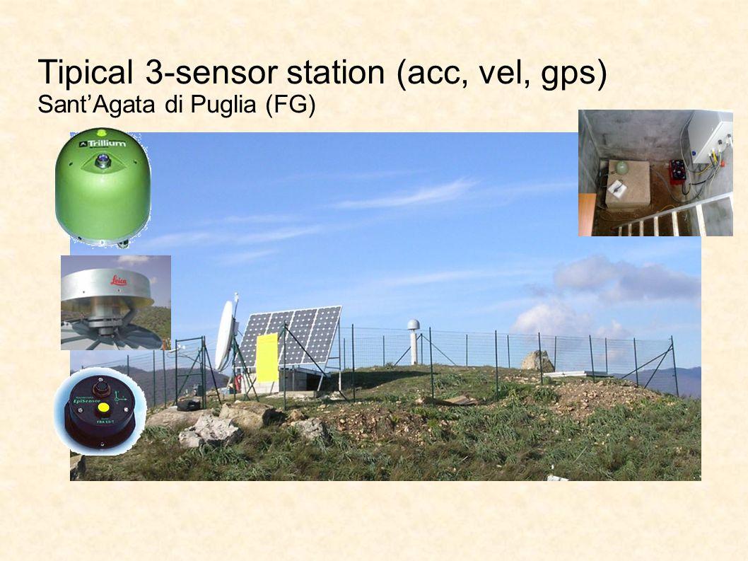 Tipical 3-sensor station (acc, vel, gps) SantAgata di Puglia (FG)