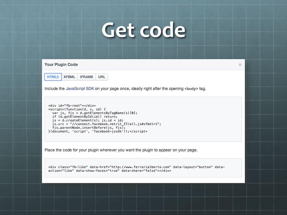 Esempio di pagina Pagina mi piace Pagina mi piace <body> (function(d, s, id) { var js, fjs = d.getElementsByTagName(s)[0]; if (d.getElementById(id)) return; js = d.createElement(s); js.id = id; js.src = //connect.facebook.net/it_IT/all.js#xfbml=1 ; fjs.parentNode.insertBefore(js, fjs);}(document, script , facebook-jssdk )); (function(d, s, id) { var js, fjs = d.getElementsByTagName(s)[0]; if (d.getElementById(id)) return; js = d.createElement(s); js.id = id; js.src = //connect.facebook.net/it_IT/all.js#xfbml=1 ; fjs.parentNode.insertBefore(js, fjs);}(document, script , facebook-jssdk )); </body></html>
