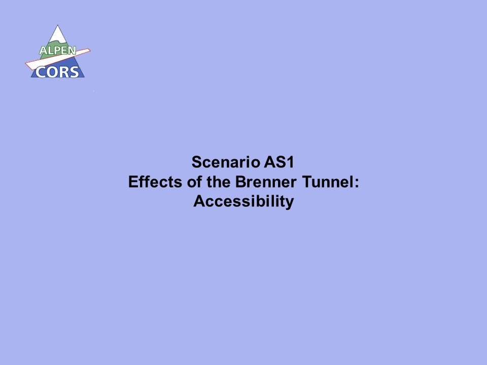 25 Scenario AS1 Effects of the Brenner Tunnel: Accessibility