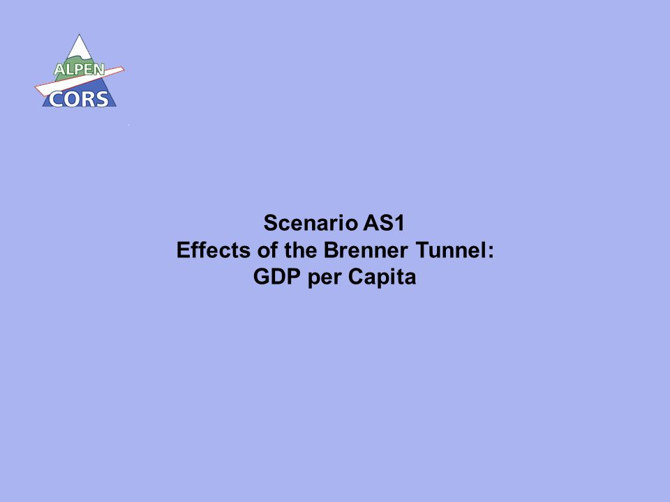 28 Scenario AS1 Effects of the Brenner Tunnel: GDP per Capita