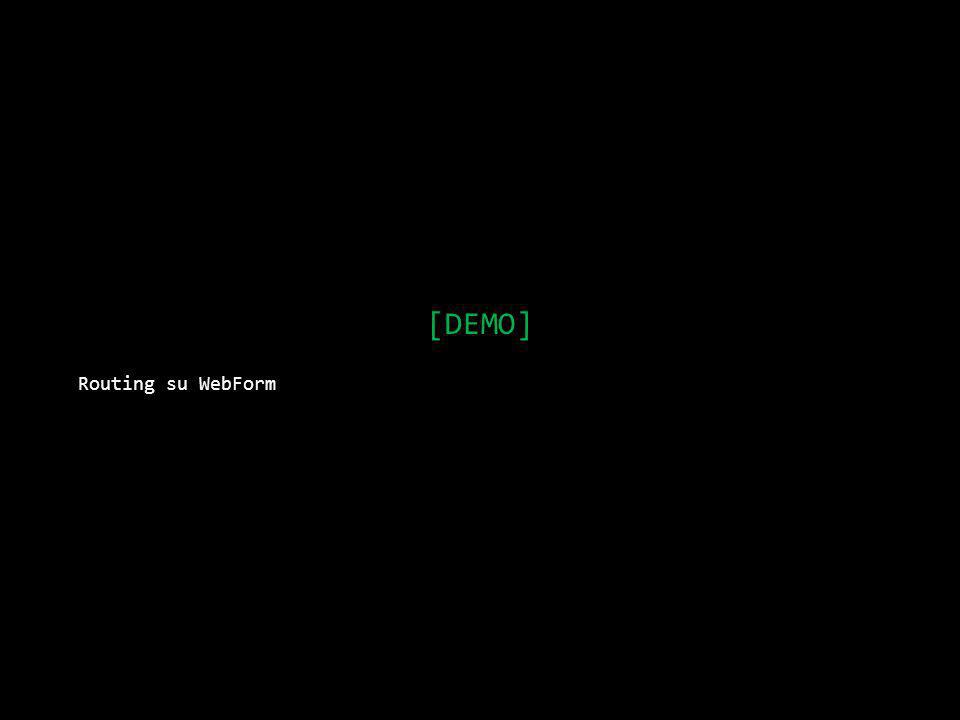 [DEMO] Routing su WebForm