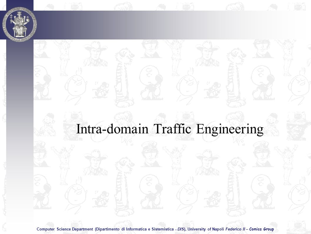 Computer Science Department (Dipartimento di Informatica e Sistemistica - DIS), University of Napoli Federico II – Comics Group Intra-domain Traffic Engineering