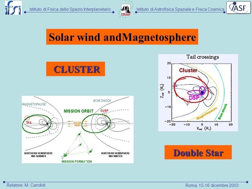 Istituto di Astrofisica Spaziale e Fisica CosmicaIstituto di Fisica dello Spazio Interplanetario Relatore: M.