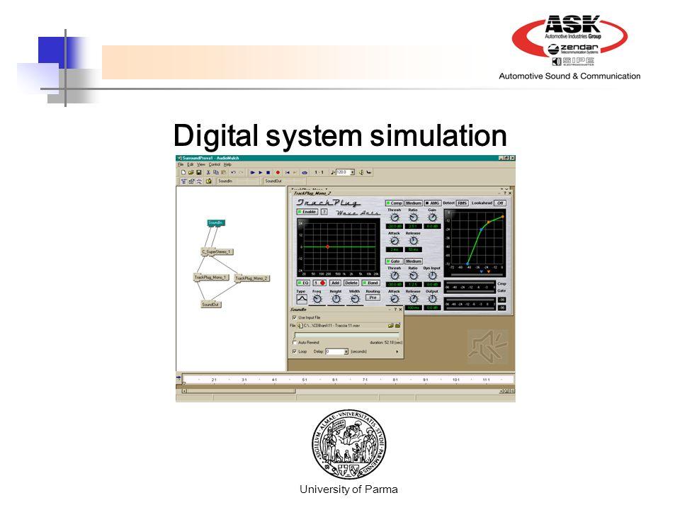 Digital system simulation University of Parma