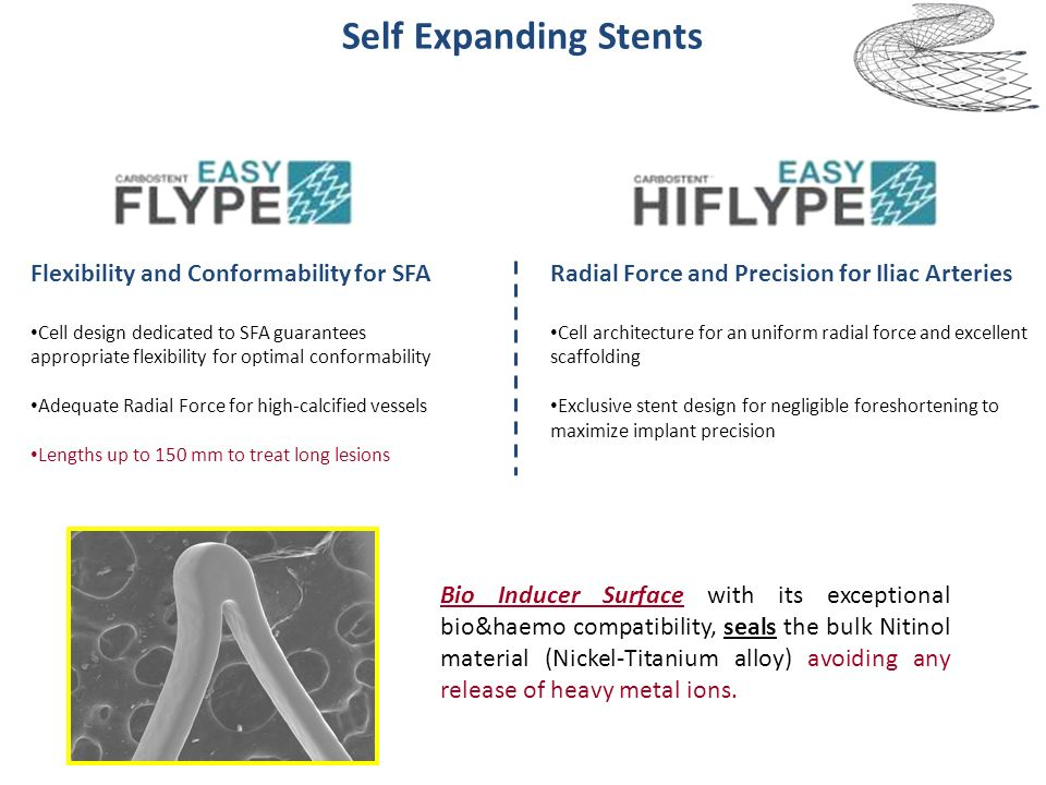 Bio Inducer Surface with its exceptional bio&haemo compatibility, seals the bulk Nitinol material (Nickel-Titanium alloy) avoiding any release of heav