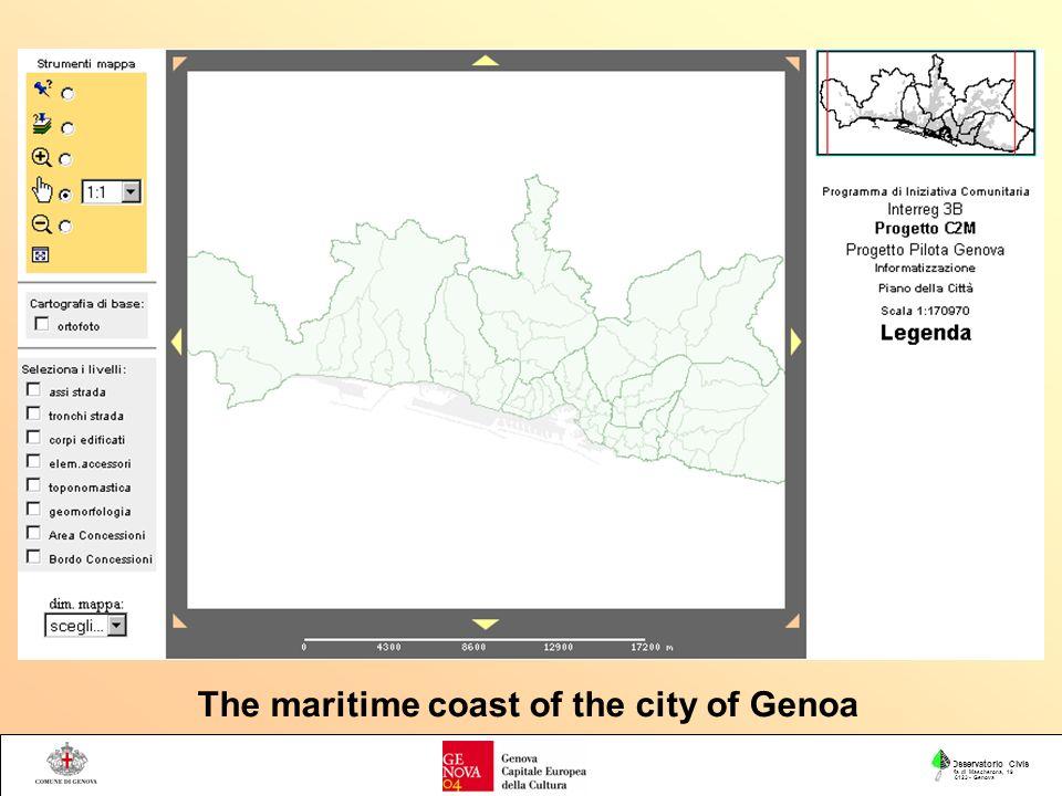 Osservatorio Civis Via di Mascherona, 19 16123 - Genova The maritime coast of the city of Genoa