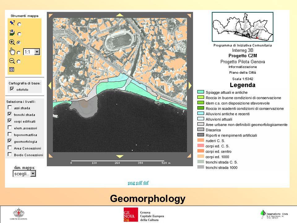 Osservatorio Civis Via di Mascherona, 19 16123 - Genova Geomorphology