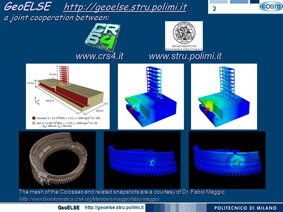 GeoELSE GeoELSE http://geoelse.stru.polimi.it 3 railway bridge 2 nd Study Case: Acquasanta Viaduct