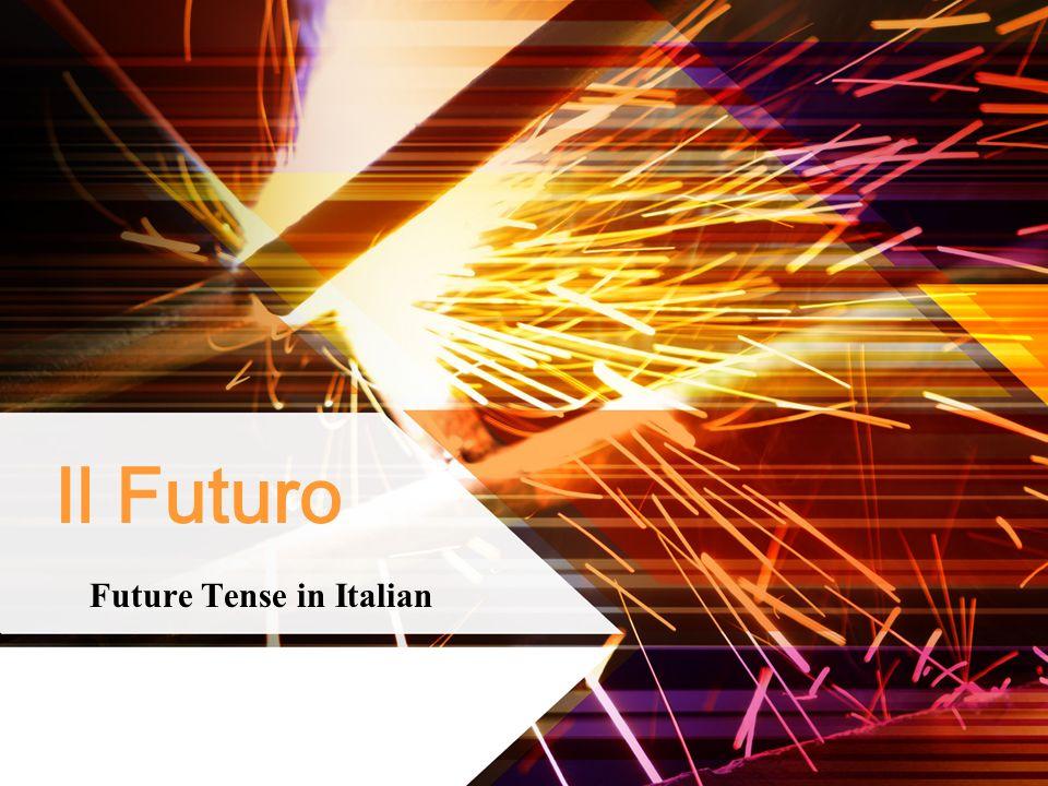 Il Futuro Future Tense in Italian