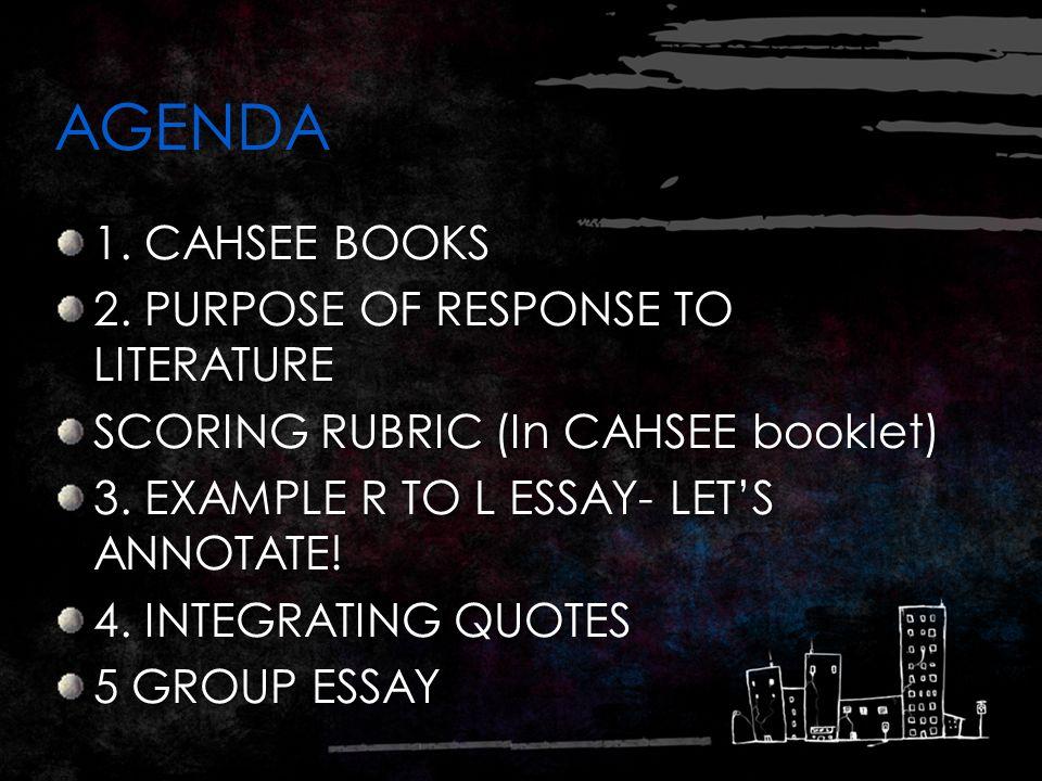 Cahsee essay