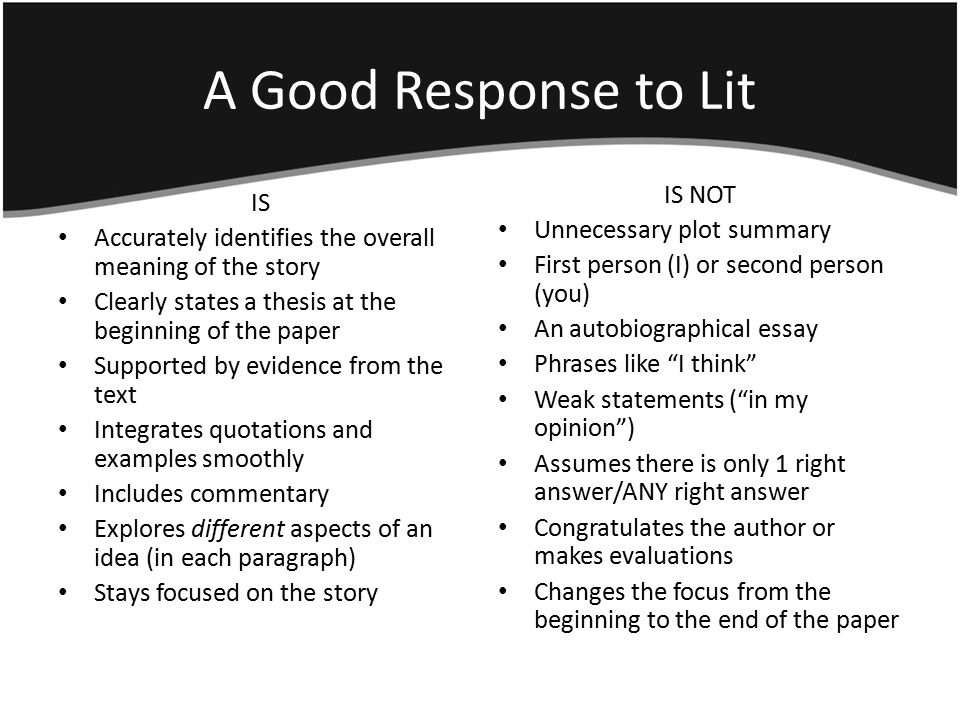 writing an essay in response to a quote The body of the response essay is a careful working through of the work in question, examining all relevant aspects of it usually there is too much to find the roots of words such as the greek or latin roots or archaic usage and show how the writer has used these deeper meanings to add layers of.