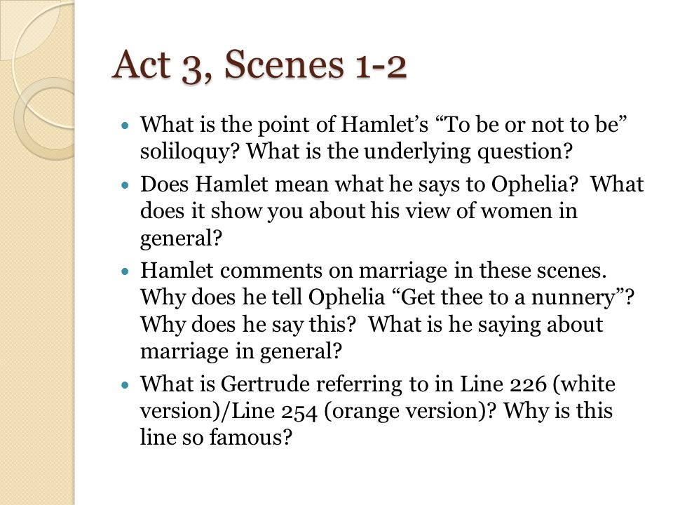 Quotes from Hamlet to Ophelia telling her to become a nun!!! =( ?