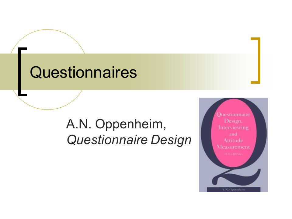 Design Dissertation Questionnaire
