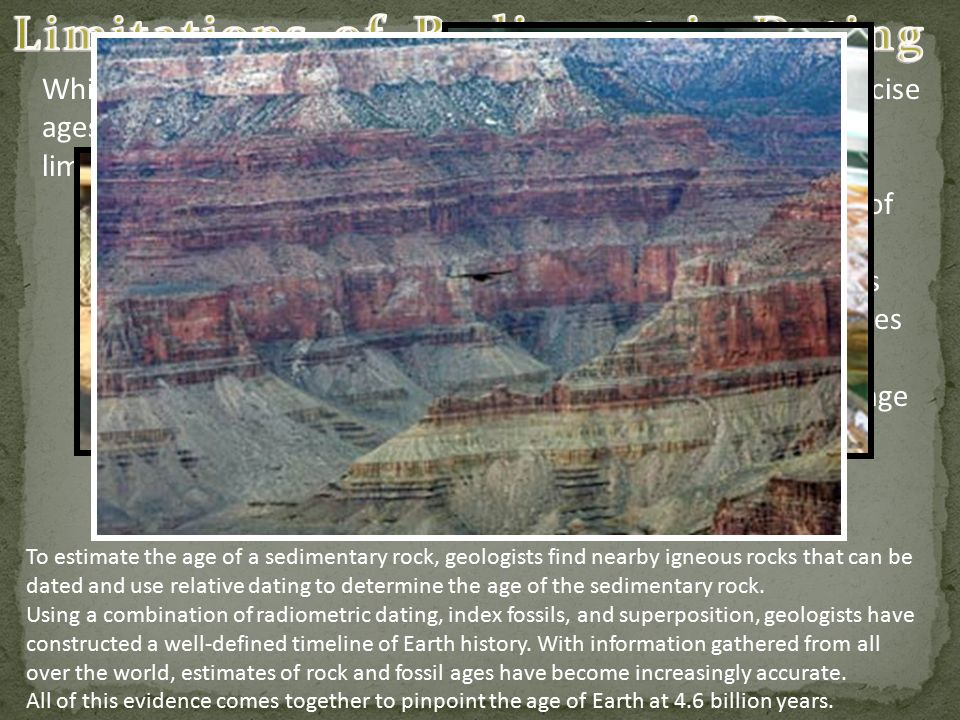 Radiometric dating of sedimentary rocks
