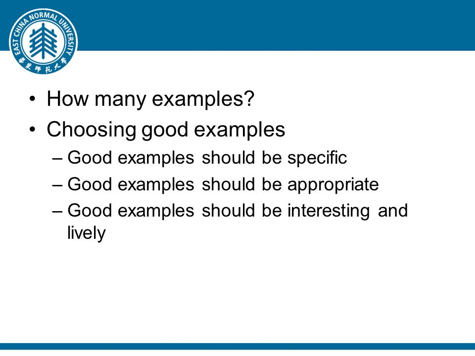 exemplification  do you know these   to shell out  to make do    how many examples  choosing good examples –good examples should be specific –good examples