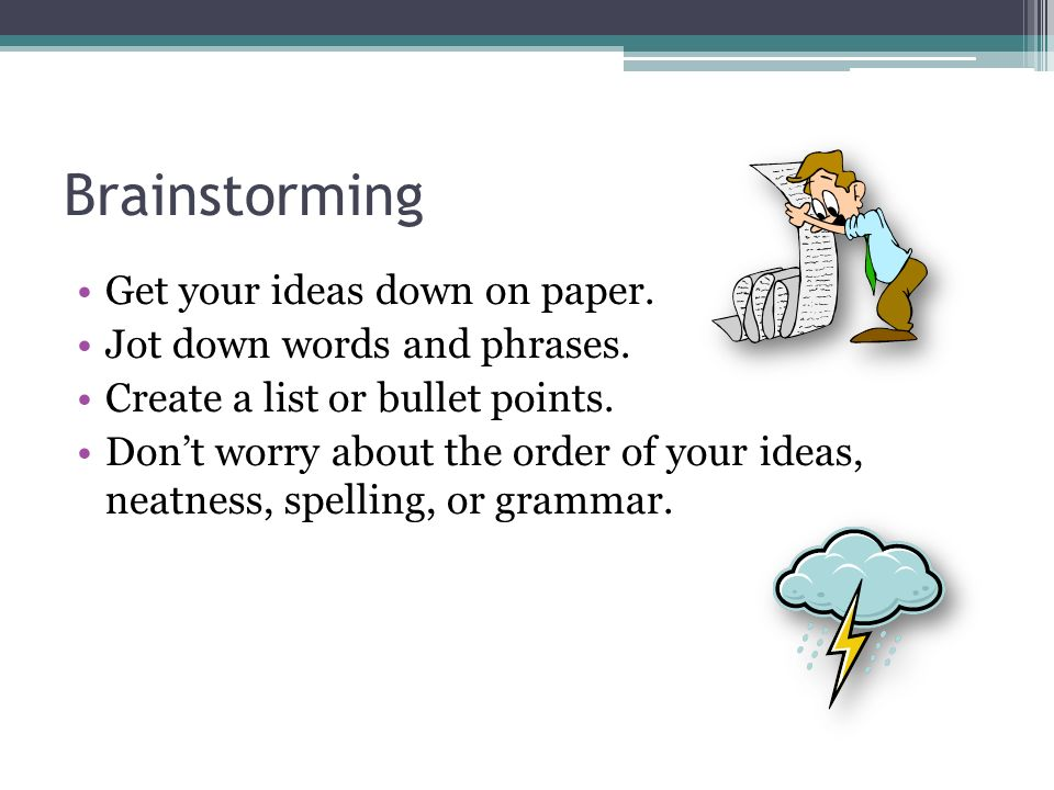 brainstorming analysis essay Our minds shut down in a way if too much analysis goes on if you found this essay on brainstorming useful, you might enjoy how to run a design critique.