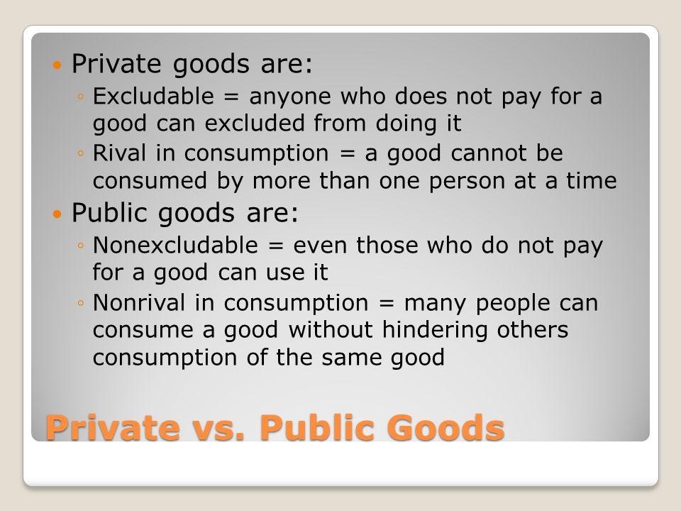 Private vs.