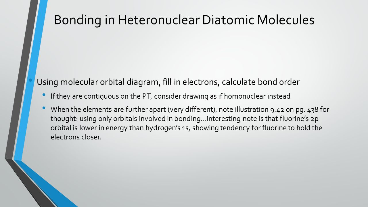 Ap chemistry zumdahl notes 9 th ed a brief collection of notes bonding in heteronuclear diatomic molecules using molecular orbital diagram fill in electrons calculate bond pooptronica