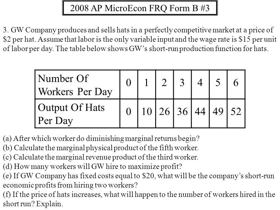 2008 AP MicroEcon FRQ Form B #3 3.