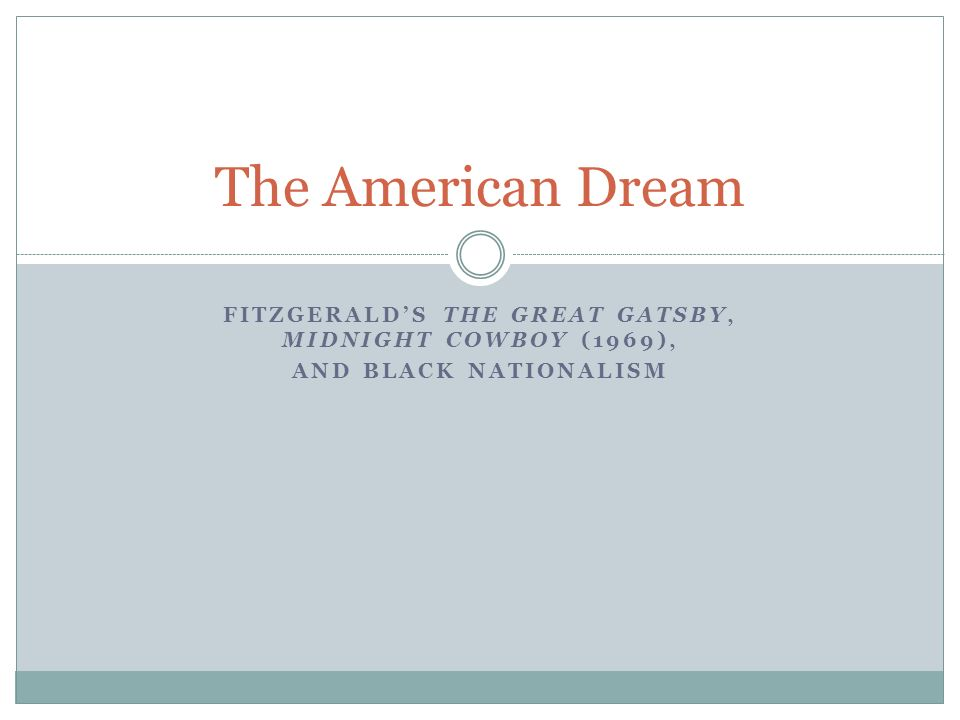 a review of the primary theme in fitzgeralds the american dream Free term papers & essays - great gatsby fitzgeralds criticism of the american dream, s.