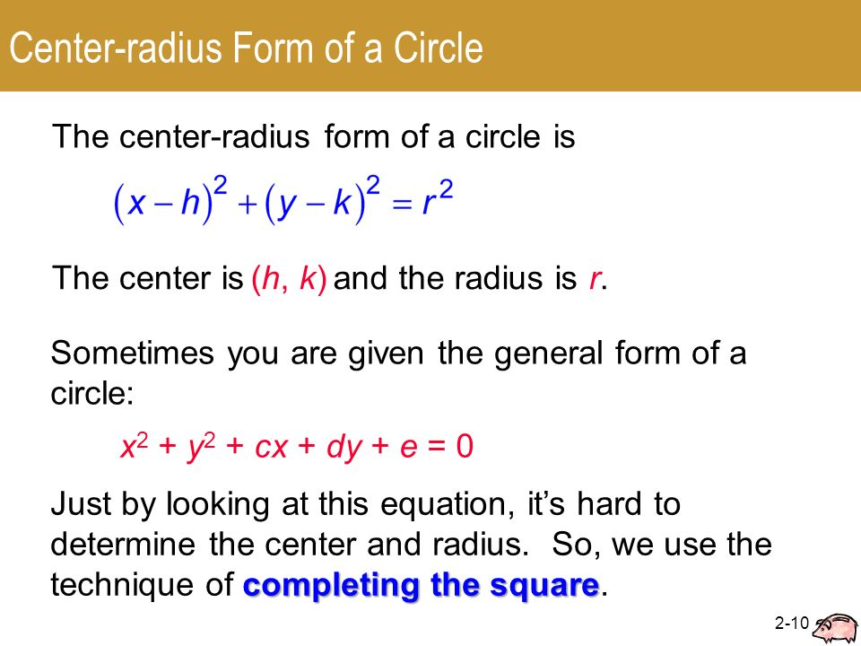 Equation Of A Circle Calculator Given Center And Radius - Jennarocca