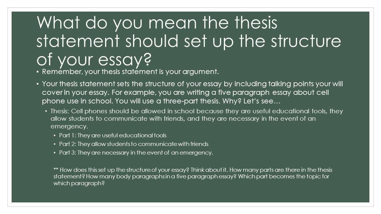 An Example Of A Thesis Statement In An Essay