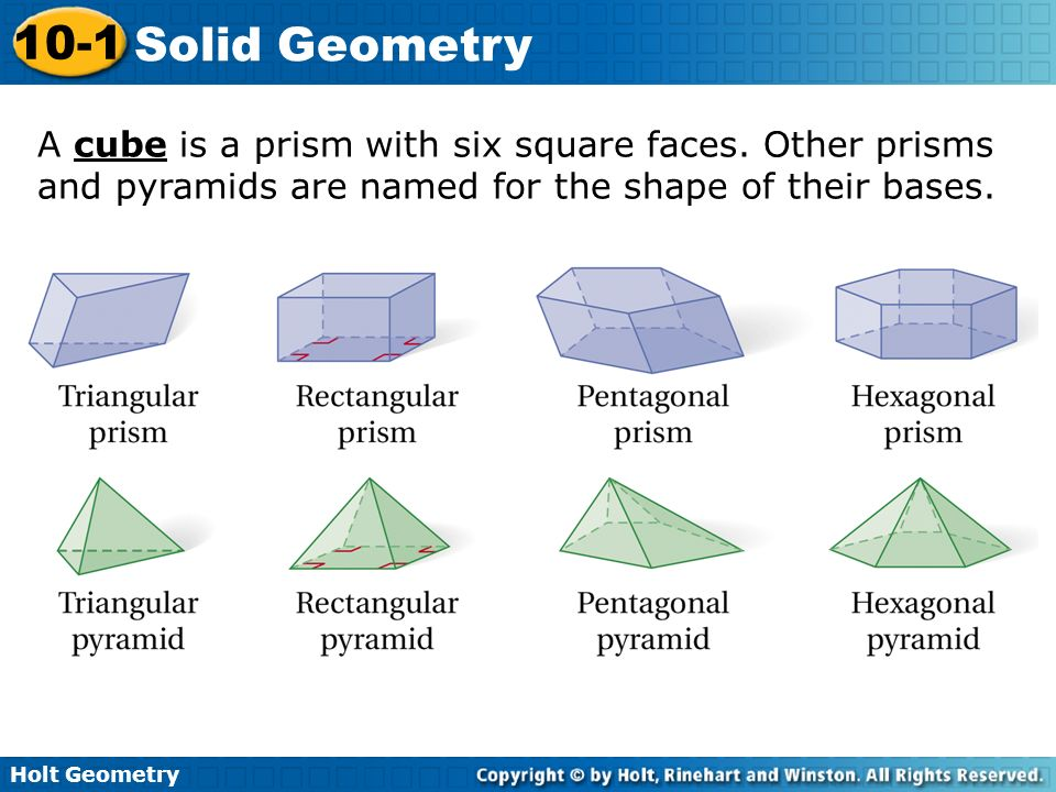 Worksheet Holt Geometry Worksheets holt geometry 10 1 solid warm up classify each polygon a cube is prism with six square faces