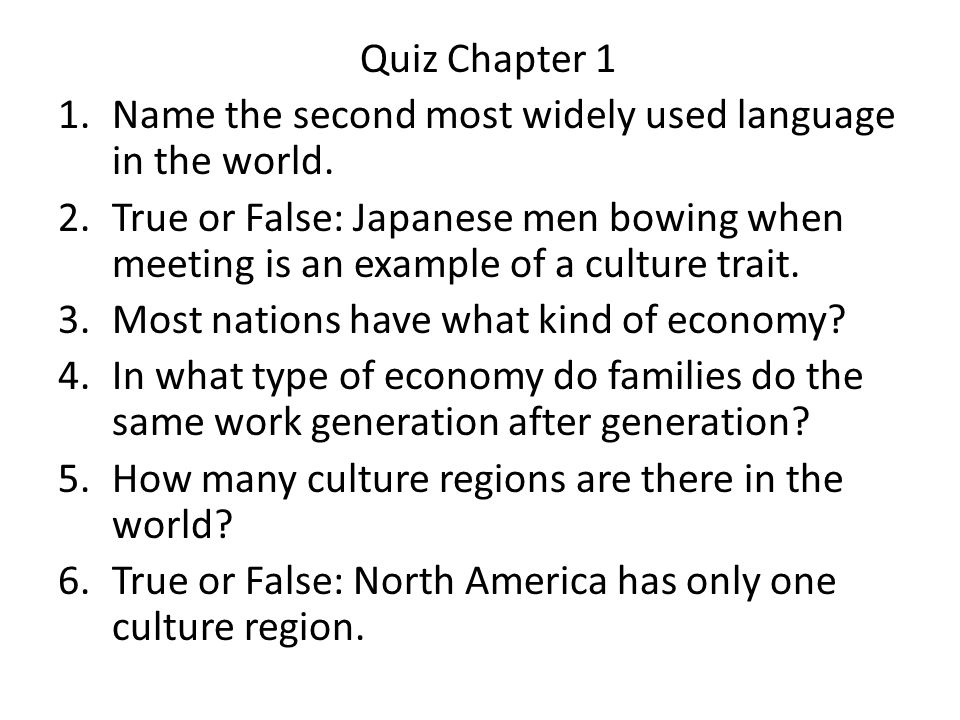 Quiz Chapter Name The Second Most Widely Used Language In The - Widely used language in the world