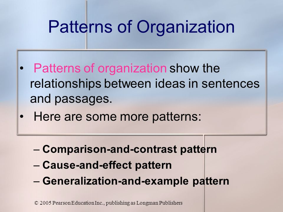 an analysis of organizational patterns rogerian Swbat recognize organizational structures and arguments for and the six types of organizational patterns , analysis (listening and.