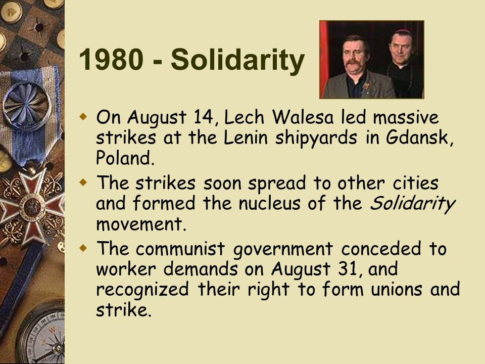 Image result for a strike in cold war poland in 1980