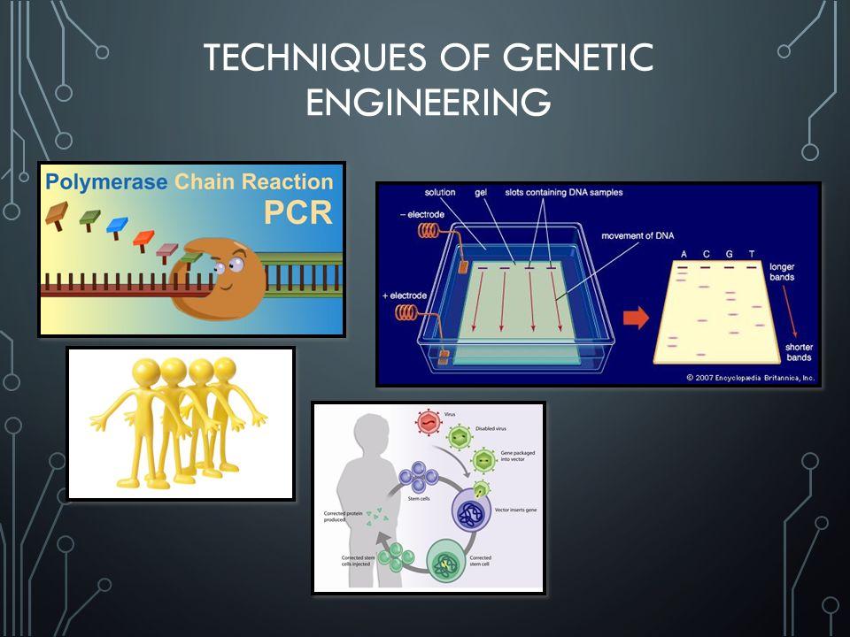 TECHNIQUES OF GENETIC ENGINEERING