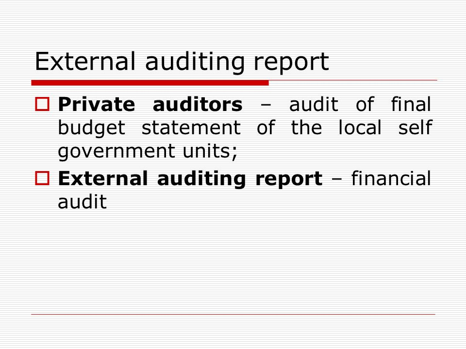 Private Company Audit Report. Company Audit Sample Company Reports