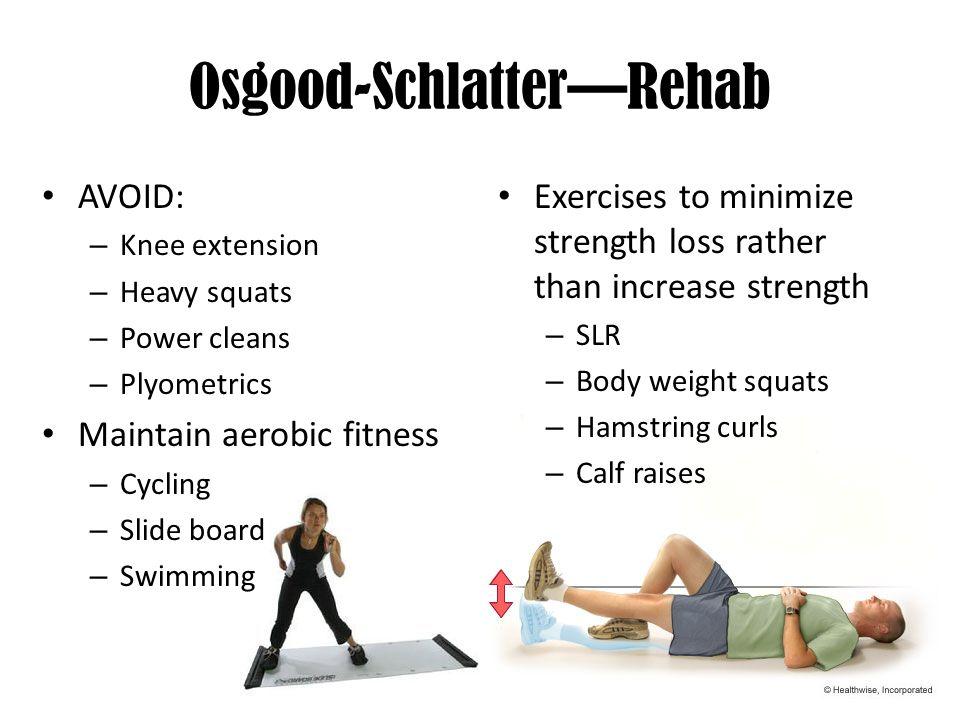 osgood schlatter disease exercises