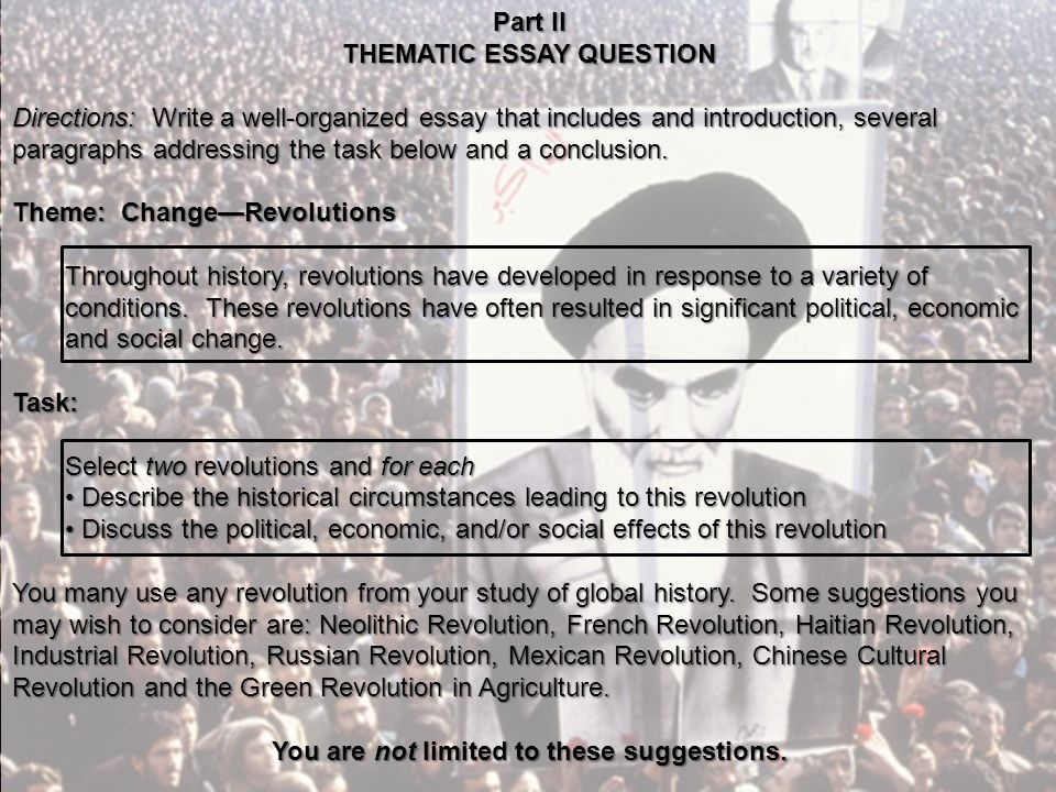 essay french question revolution