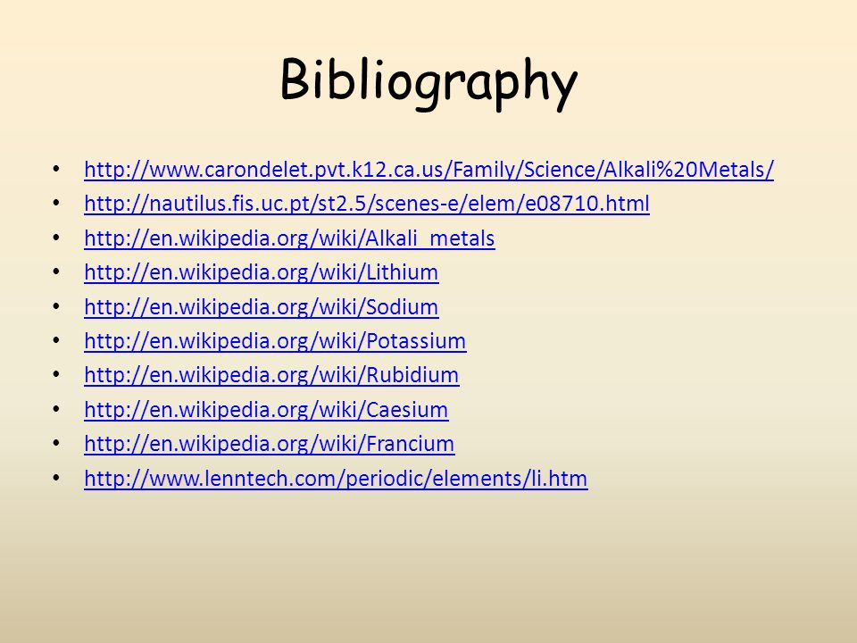 Alkali metals aga smith basic information the 6 elements from the 13 bibliography urtaz Image collections