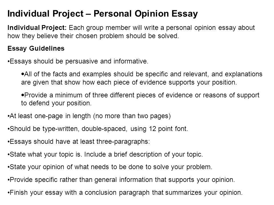 citizen s of the st century pbl entry event what is the one  individual project personal opinion essay individual project each group member will write a personal