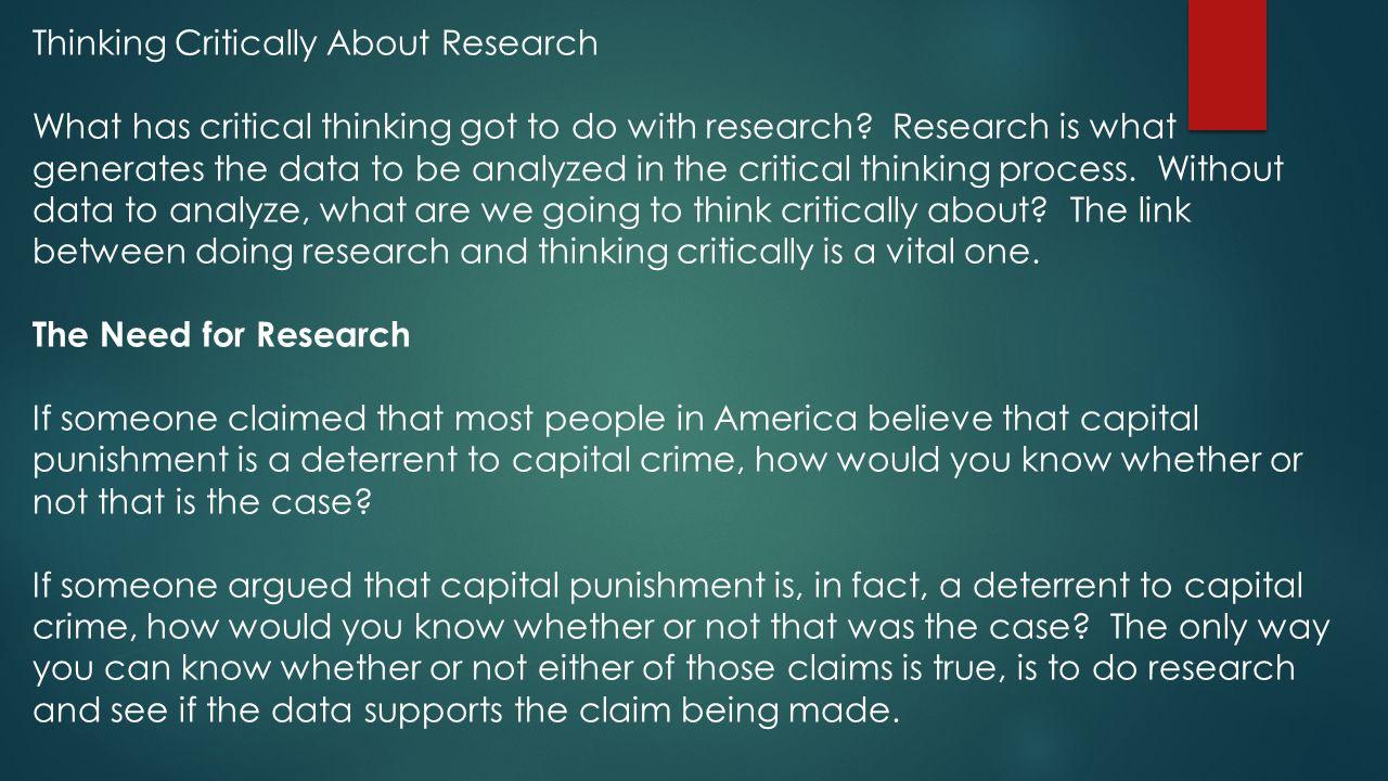 understanding critical thinking process
