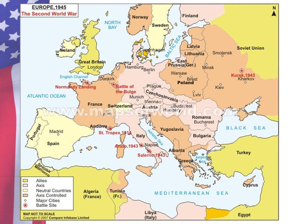 World War 2 Europe Map Capitals - Free Usa Maps